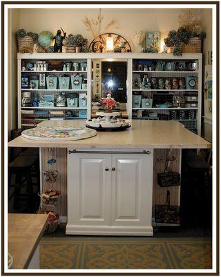 Love this craft room - organization!: Idea, Antiques Furniture, Crafts Rooms, Work Spaces, Scrapbook Rooms, Crafty Storage, Sewing Rooms, Crafty Rooms, Diy Storage