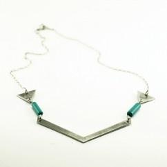 Geometrik Aztek Kolye - #tasarim #tarz #gumus #rengi #moda #hediye #ozel #nishmoda #silver #colored #design #designer #fashion #trend #gift