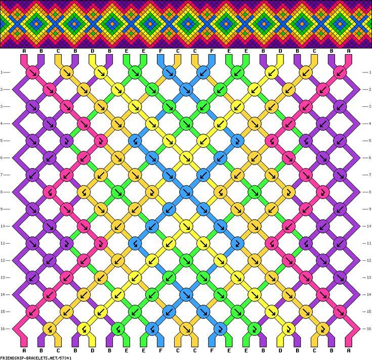 Friendship Bracelet Pattern #57341