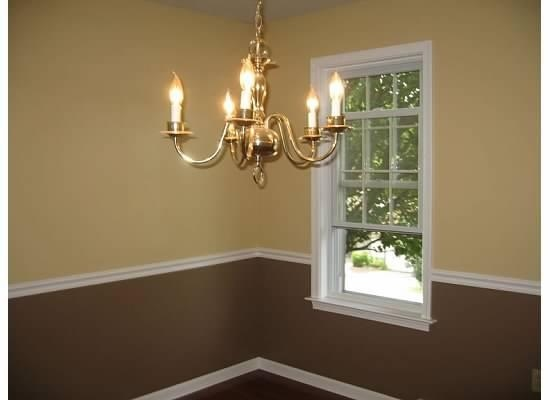You can add trim mid-room and use different colors like this to mix it up