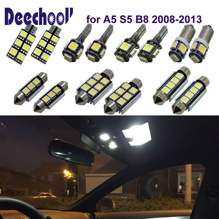 Deechooll 16pcs Car LED Light for Audi A5 S5 B8 2008-2013,White Interior Light Bulb for Audi A5 S8 Quattro 08-13 Reading Lights. Yesterday's price: US $20.00 (16.59 EUR). Today's price: US $17.20 (14.27 EUR). Discount: 14%.