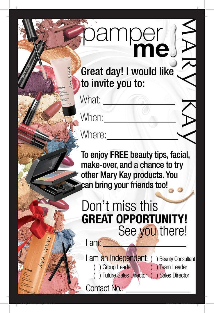 mary kay hostess program flyer