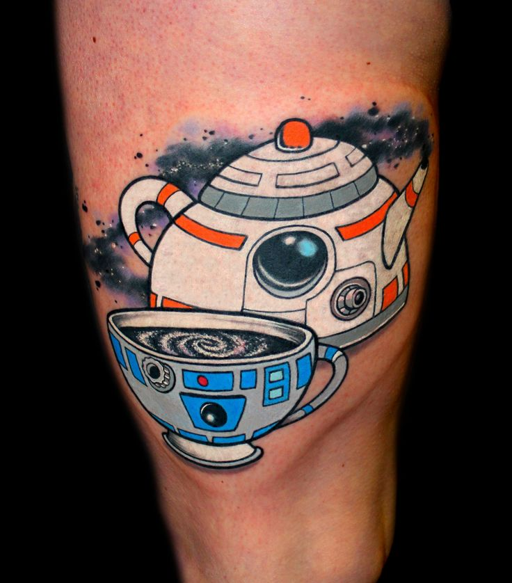 R2-Tea2 by Chris 51, Area 51 Tattoo, Springfield, OR