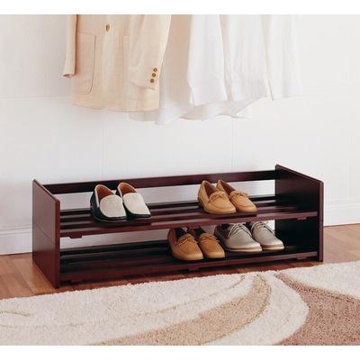 OIA Stackable Shoe Rack in Mahogany (Set of 2) | Wayfair