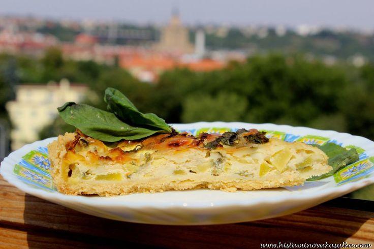 Zdravá cuketa a jeden recept na Letní sýrový quiche s cuketou a květákem