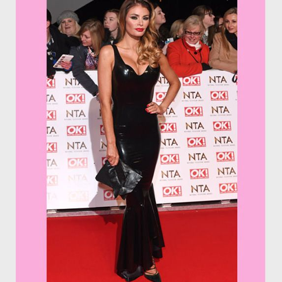 It wasn't a great evening for the Only Way Is Essex ladies Chloe Sims tried (being the key word) to channel her inner Kim Kardashian in a skin tight black PVC gown but somehow made it look more sex shop cheap the Kim K chic.