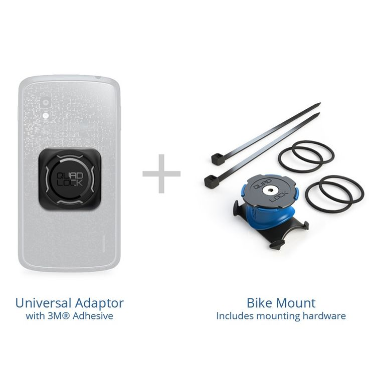 Never get lost on your motorcycle again! This is easily our favourite smartphone mounting system on the market. The Quad Lock® Bike Mount Universal...
