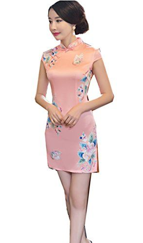 5bcfe1264 Shanghai Story Faux Silk Qipao Dress Cheongsam Chinese Traditional Dress S  695