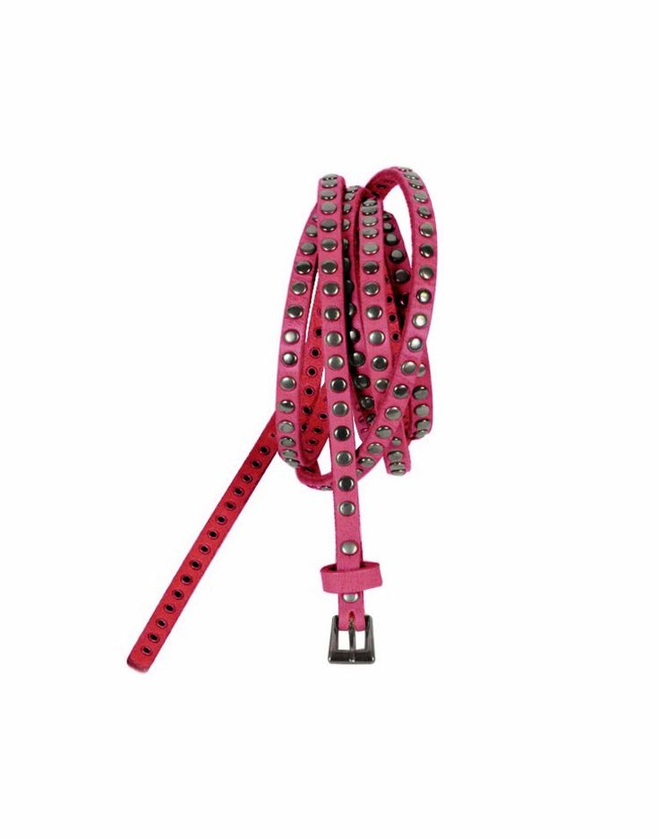 COWBOYSBELT | Double Belt with Studs in Pink - Women - Style36