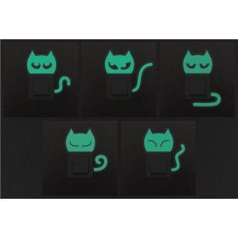 Konnektor matrica csomag - foszforeszkáló cicák : Apróságok - KaticaMatrica.hu - A minőségi falmatrica és faltetoválás webáruház