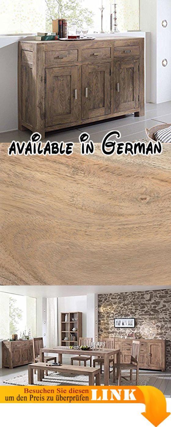 B003torlre Kommode Guru Akazie Stone 130 Cm 3 Türen Sideboard By