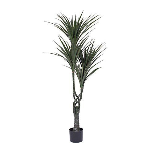 48'' Artificial Giant Yucca Tree in Black Plastic Pot