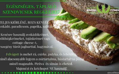 Egészséges, tápláló szendvicsek reggelire!