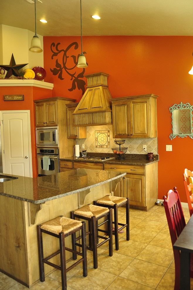 76 best images about kitchen ideas on pinterest pewter - Kitchen with orange walls ...