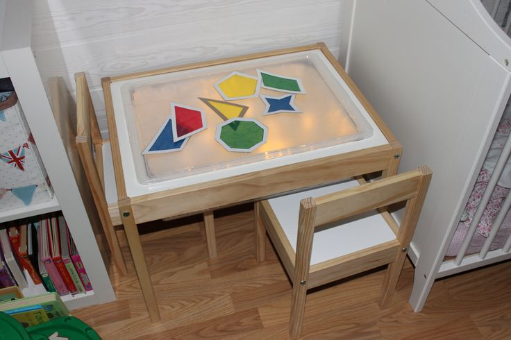 Table ikea transform e en table lumineuse table for Base de table ikea