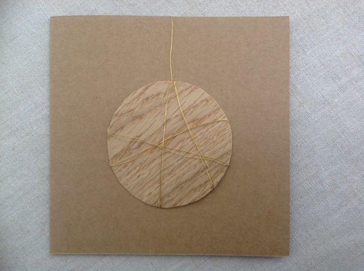 MISU card design   oak bauble