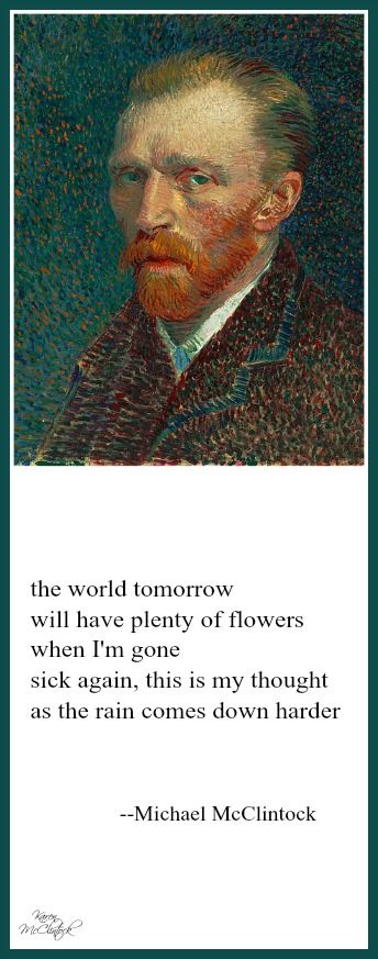 Tanka poem: the world tomorrow -- by Michael McClintock.