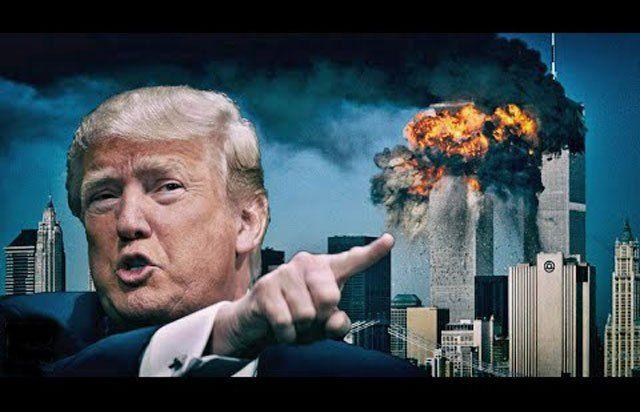 """Der künftige Präsident Donald Trump ist davon überzeugt, dass Flugzeuge alleine das WTC nicht hätten zum Einsturz hätten bringen können… """"There's something going on…"""" war einer der Leit…"""