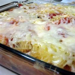 Spaghetti squash lasagna!