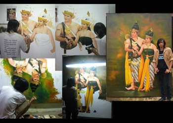 """""""Prosesing Rama Sinta"""" #Creative #Art in #painting @Touchtalent http://bit.ly/Touchtalent-p"""