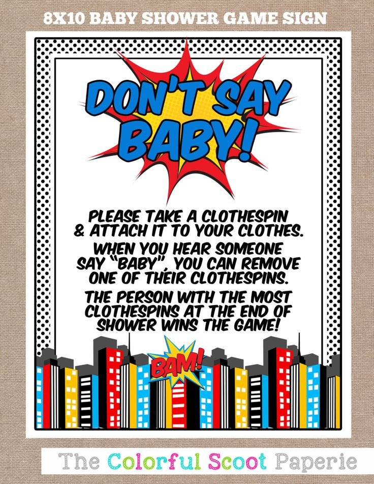 INSTANT DOWNLOAD, Superhero Baby Shower Don't Say Baby Game, Don't Say Baby, Baby Shower Game, Superhero, Comic, Baby shower (#628) by TheColorfulScoot on Etsy https://www.etsy.com/listing/239638268/instant-download-superhero-baby-shower