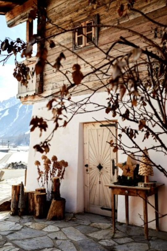 """This lovely front door is from our feature """"Alpine Approach"""""""