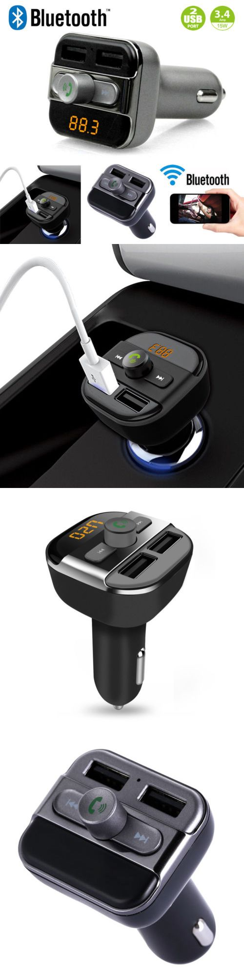 FM Transmitters: Bluetooth Fm Transmitter Car Kit Wireless Mp3 Player Dual Usb Charger -> BUY IT NOW ONLY: $112.99 on eBay!