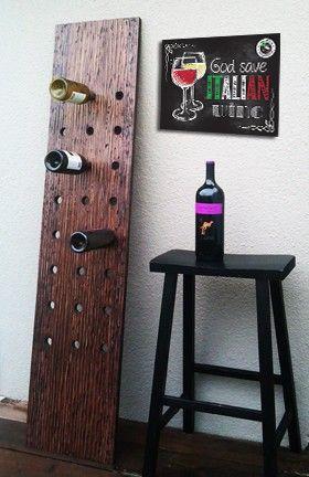 """Lavagnetta """"Italian Wine"""" decorativa personalizzabile 20x15cm in forex, regalo speciale ed originale per amanti del buon vino!"""
