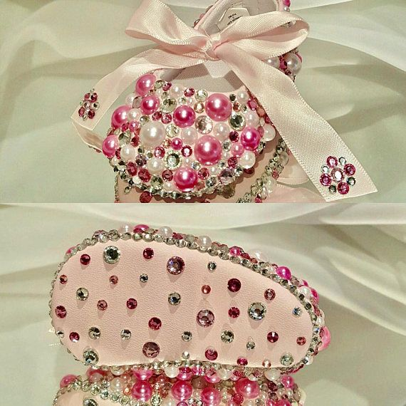 Infant Bling Baby Ballet Ribbon toe Shoes Pearl Baby Shoes