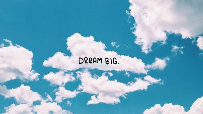 Dream Big Blue Sky Clouds Girl Wallpapers For Iphone In 2020 Desktop Wallpaper Art Desktop Wallpapers Backgrounds Dream Big Cloud