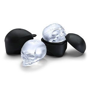 These molds make ice cubes in the shape of skulls. Those skull ice cubes are just what the mad scientist ordered! Can also be used for cakes, candies, or soaps! *KA