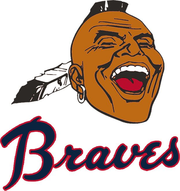 Atlanta Braves Primary Logo 1968 Native American Head