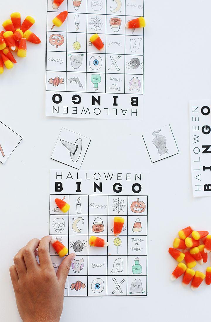 free printable halloween bingo - Free Printable Halloween Bingo Game Cards