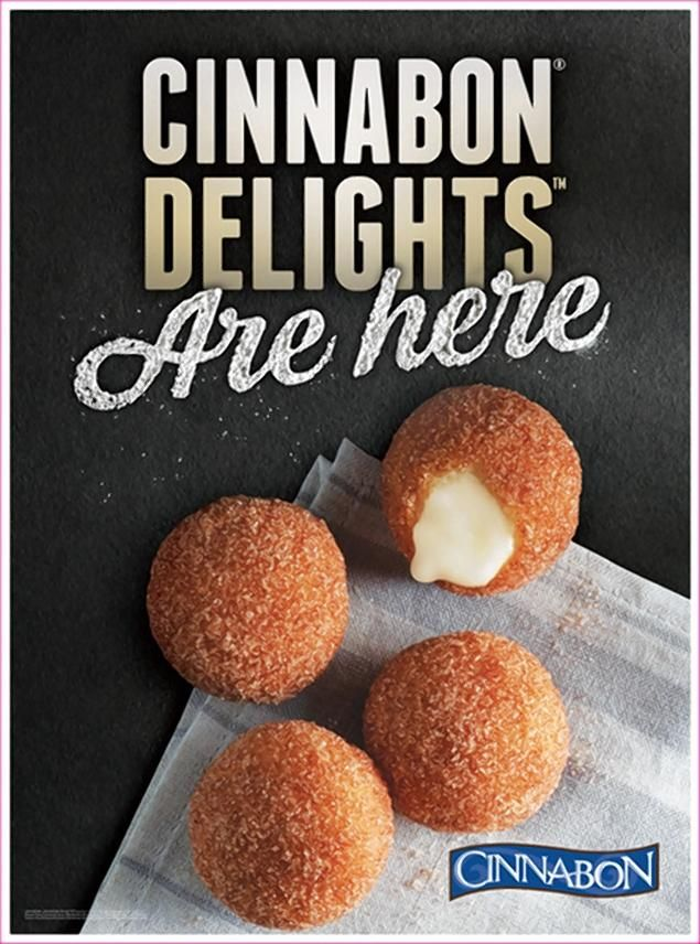 Cinnabon Delights are frosting-filled bite-size donuts that are only available at Taco Bell.