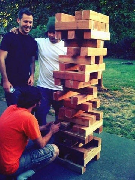 21 Insanely Fun Wedding Ideas - Life-Size Jenga is the perfect lawn game These have been a hit! Corn hole is so 2012...