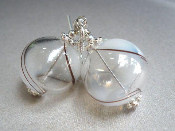 Hand-blown glass earrings.  Etsy $12.00