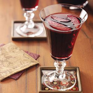 Hot Spiced Wine Recipe from Taste of Home -- shared by Noel Lickenfelt of Bolivar, Pennsylvania