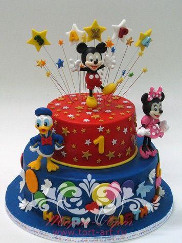 """Детские торты — Детский торт """"Микки Маус"""""""