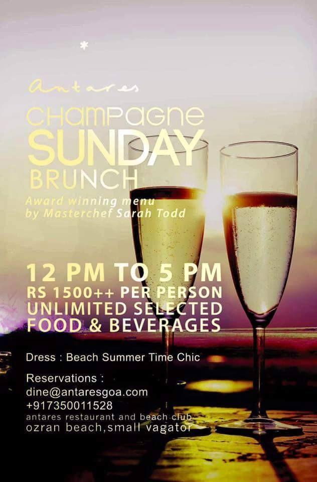 #Champagne #Food #SundayBrunch #Buffet #Yum #SundaySpecial #Foodies #FoodLovers #FoodPorn #Nom #Tasty #Delish #Delicious #Scrumptious #Breakfast #Lunch #Brunch #AustralianCuisine #Delightful #Antares #Goa #Vagator #Ozran Beach #BeachBum #GoodTimes #Happiness #GoaScene