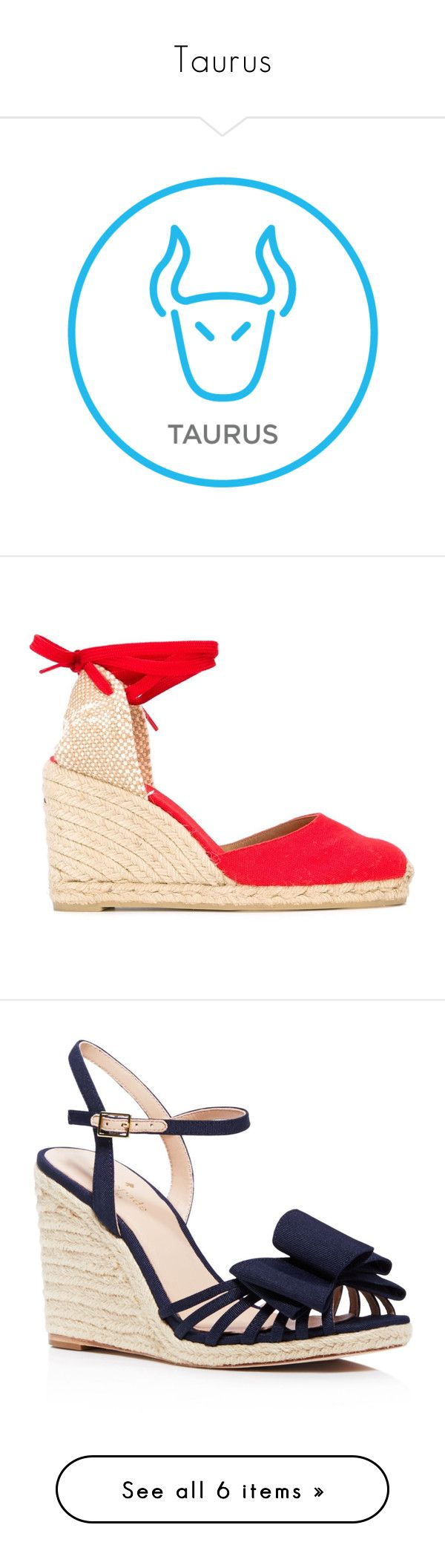 """""""Taurus"""" by blogforeverything ❤ liked on Polyvore featuring shoes, sandals, red, wedge heel shoes, red sandals, espadrille wedge shoes, wedge sandals, castaner sandals, heels and wedges"""