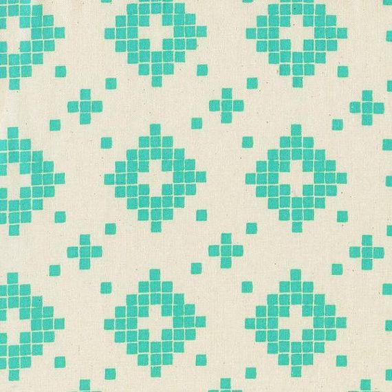 Prints Collection - Mesa - Tile Turquoise (4008-001) (per 1/2 yard)