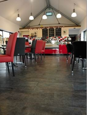 New Hollybeck Nurseries Ltd in Nottingham wanted to give the tea rooms an up to date refurbishment.    When faced with selecting the floor finish, they looked no further than Victoria Luxury Flooring and opted for Mode Silver Slate.  With is deep tones of charcoal grey and metallic silver enhanced with touches of soft red, and a robust slate effect surface texture,  Silver Slate was simply it was the perfect choice. Available from Rodgers of York #Interiors #Flooring