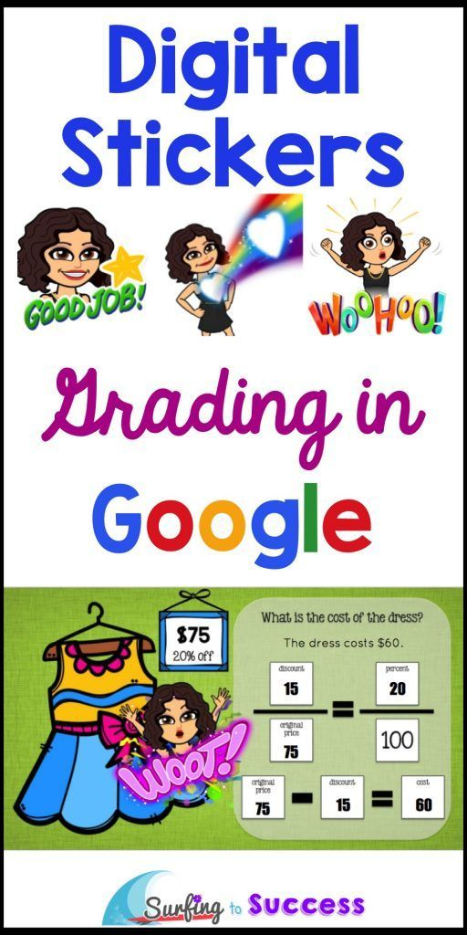 Digital Stickers in the Google Classroom  Digital stickers can be a powerful motivator.  Check out these tips and tricks for grading digital assignments.