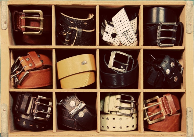 cool way to store and display belts