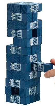 Doctor Who Tumbling TARDIS Blocks. I don't need much, but I NEED THIS.