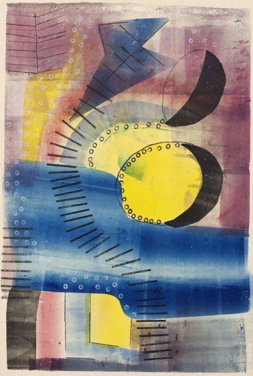 H.N. Werkman, Amsterdam-Castricum 2, 1941, sjabloon, rolkant, stempel op papier, 51 x 33 cm, Groninger Museum, Legaat Margaret van Wylick-Froelicher, New York, 1994.