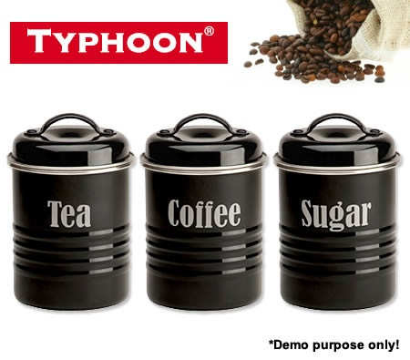 Typhoon Vintage Kitchen Canisters Black