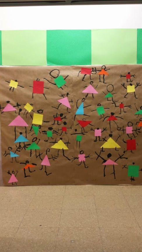 EMOCIONS: LA POR (Paul Klee, Ballant per por) - Material: paper, pintura, pinzel, cartolina , tisores, cola - Nivell: Infantil P4 14/15