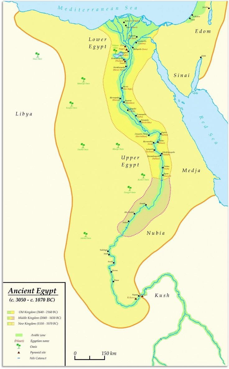 Old Kingdom Middle Kingdom And New Kingdom Territorial - Map of egypt during the new kingdom