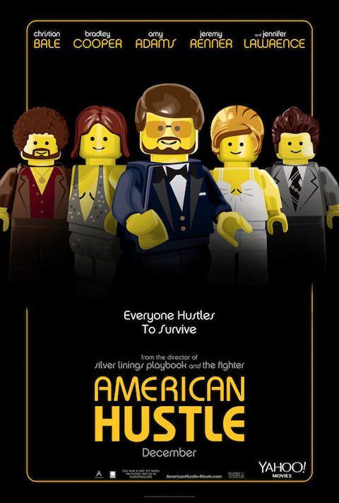 American Hustle - Carteles de películas nominadas al Oscar 2014 recreados con LEGO
